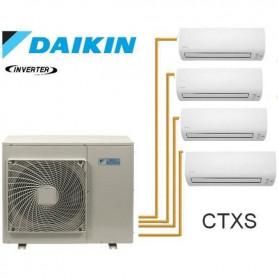 Daikin 4MXS68F Quadri, 2+ 2+ 2+ 2.5 kW, pour 20+20+20+40m² réversible +Wifi A++