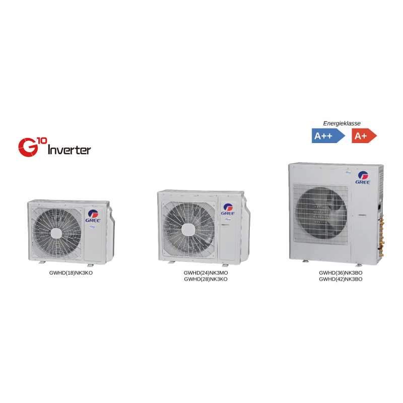 GREE MULTI - Unité EXT GWHD(28)NK3FO 8000W - 3 sorties
