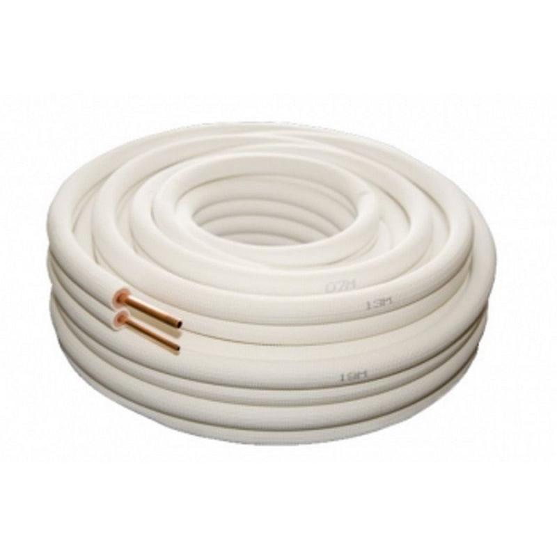 Liaison frigorifique bi tube isolé 1/4 3/8-20 métres