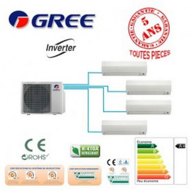 QUADRI SPLIT GREE GWHD28NK3FO +2 GWH09+2 GWH12 8000W A+